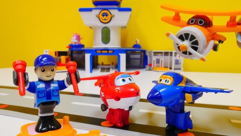 Ein Tag auf dem Super Wings Flughafen Spielzeugvideo für Kinder