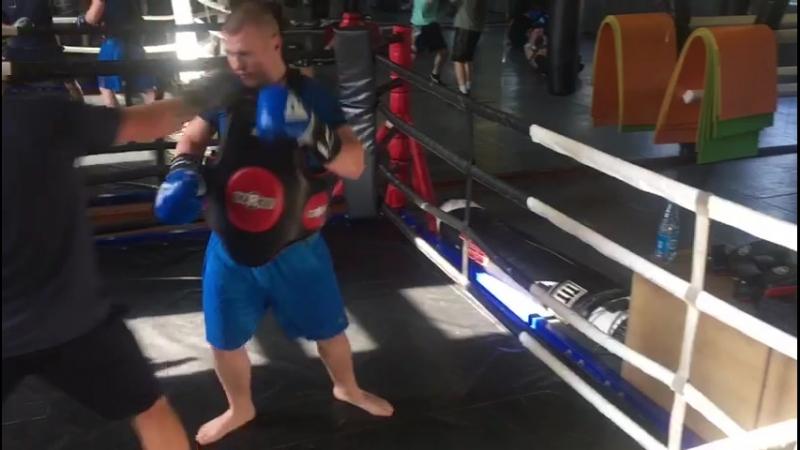 Индивидуальная тренировка по боксу, Тренер - Сергей Гусев