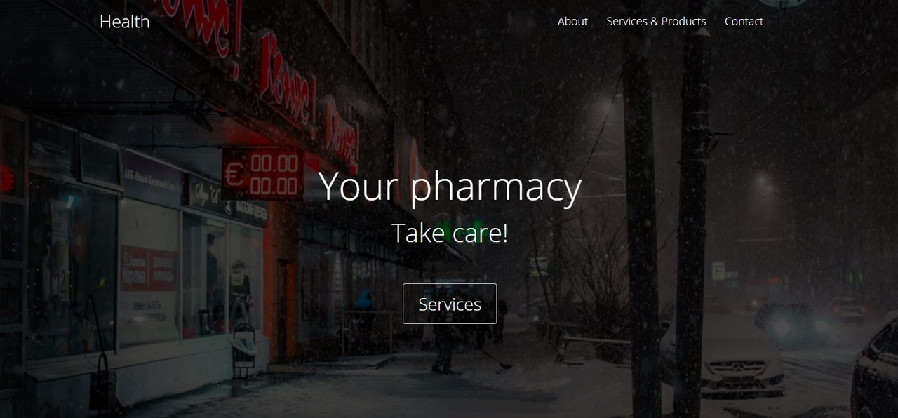 Pharmacy Landing Page Template