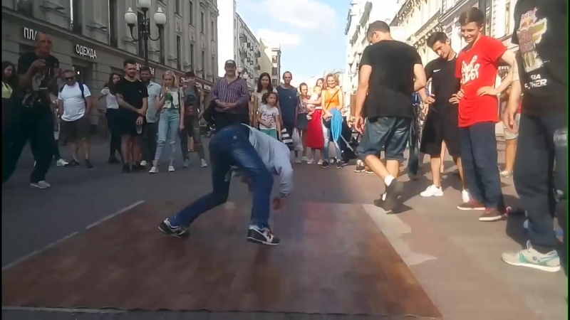 When our son see a breaking jam he can't stand he begins to dance Arbat Street Breaking Dance
