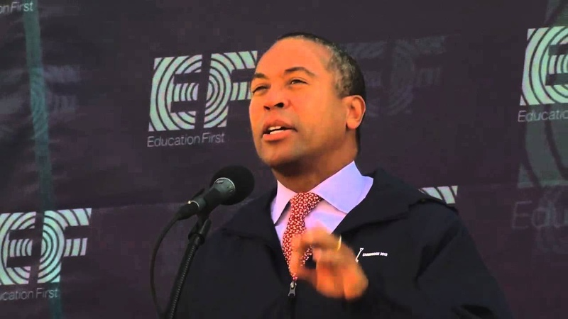 Governor Deval Patrick at EF Education First Groundbreaking