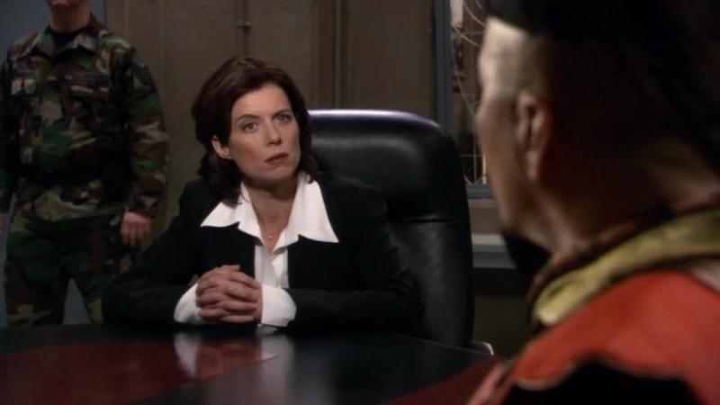 Звездные врата: Первый отряд  1-2 серия 8 сезона  Элизабет Вейр 12 сцена
