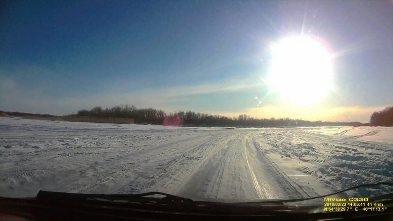 Мороз, солнце и ледяная дорога. или видео где все ХОРОШО! 23 февраля 2018