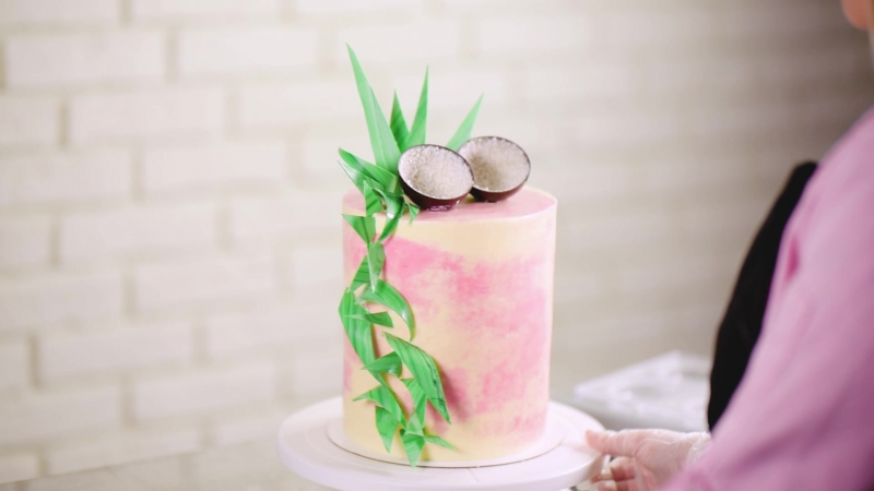 Торт Малина - кокос