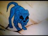 Блу, земной ребенок (Франция, 1986) полнометражный мультфильм, фрагмент советского дубляжа