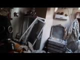 مشاهد لأحد الصواريخ المحملة بالغازات السامة التي استهدفت مدينة دوما
