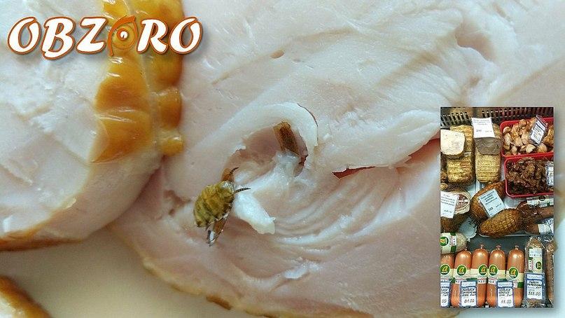Фото №6. Фрагмент насекомого в нарезанном варианте рулета куриного «Наша Курочка»