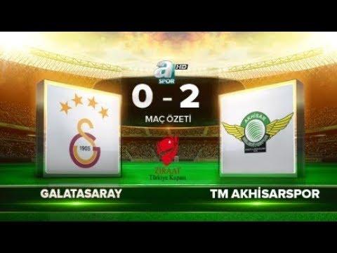 Galatasaray 0-2 TM Akhisarspor | ZTK yarı final rövanş ÖZET | a spor | 18.04.2018