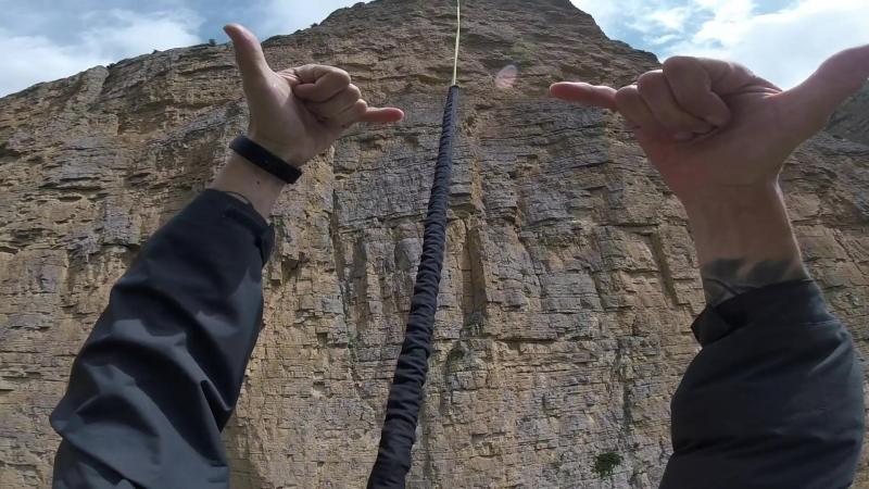 250метров скала Лестница ropejumping rapt прыжок2