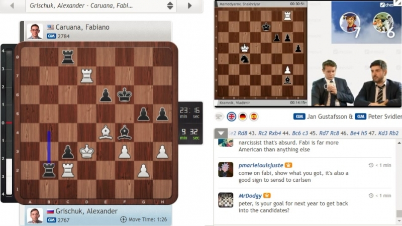 Peter Svidler is telling his story about Karjakin being Ukranian - from 2.00