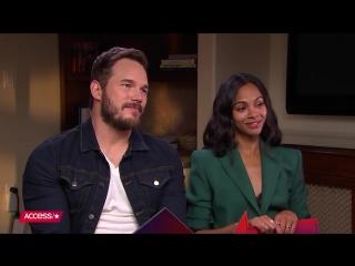 «Мстители: Война Бесконечности»: интервью Зои Салдана и Криса Прэтта для «Access»