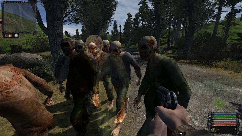 Бегающие зомби, сталкер Зов Чернобыля