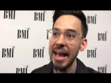 On the red carpet with Mike Shinoda talking about his new project! BMI Pop Awards