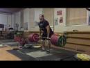 Легендарный тяжелоатлет Алексей Ловчев (Россия), становая тяга без экипировки - 340 кг💪