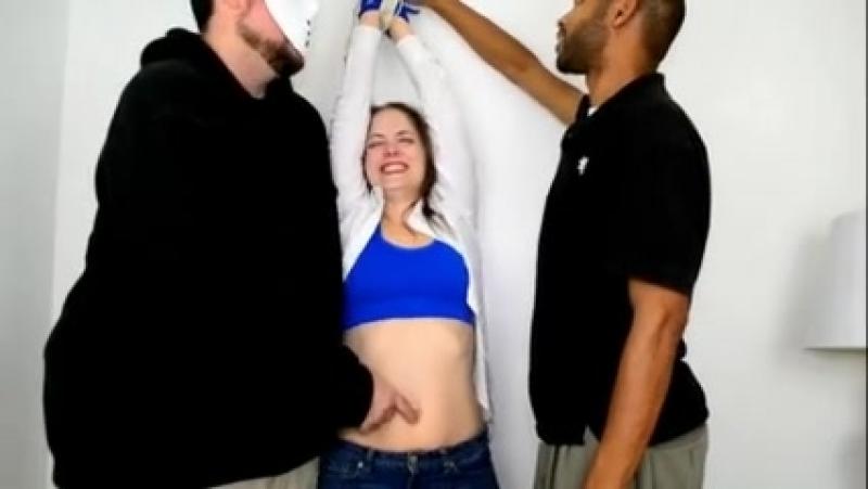 Rachels Standing Navel Tickling Torture