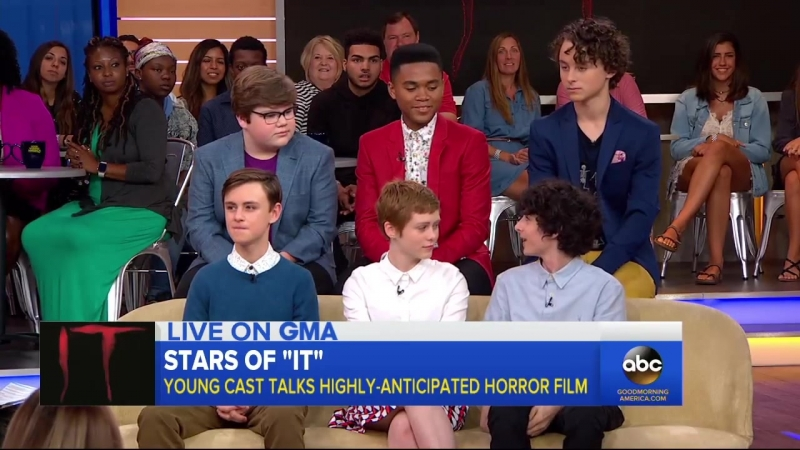 The cast of It opens up about the highly-anticipated film live on GMA