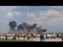 En Roumanie lors du spectacle aérien sur la base de Borcha un avion MiG 21 sest crashé