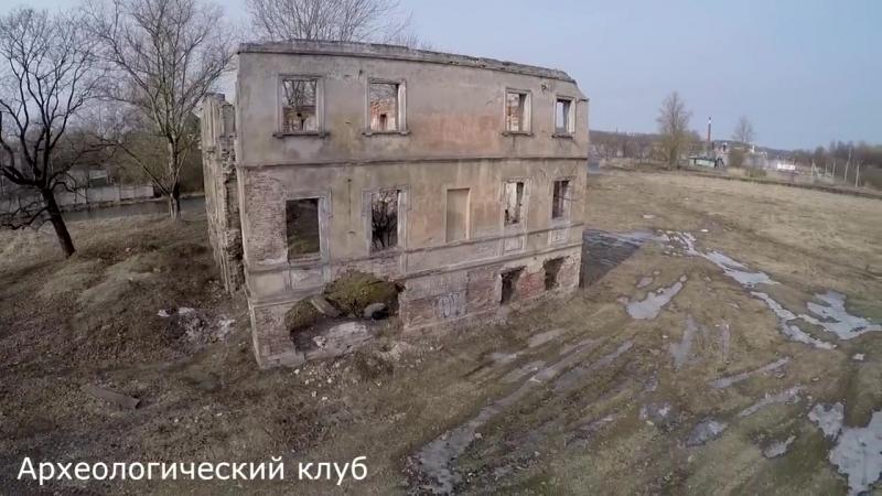Руины дворца императора Александра I в Красном Селе. Аэросъемка