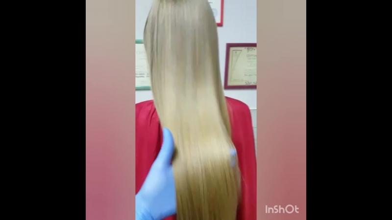 Гладкие как шелк безумно красивые волосы Кира ботокс