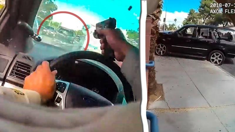 БЕШЕНАЯ ПОГОНЯ полиции СО СТРЕЛЬБОЙ в Лас-Вегасе 2018