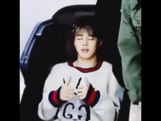 Jimin was enjoying that massage chair #abts