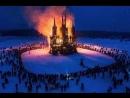 На Масленицу сожгли макет католического собора