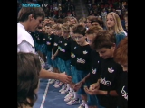 Roger Federer being ball boy in Basel in 1993! (2)