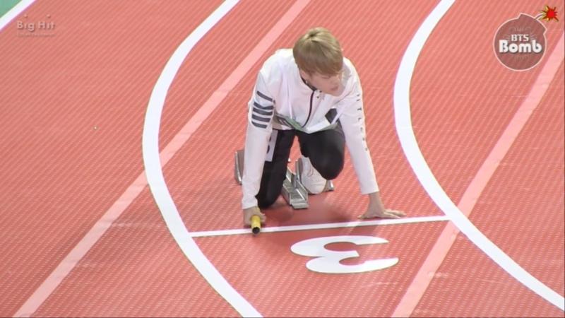 [BANGTAN BOMB] BTS Relay race @ 2016 추석특집 아육대 - BTS (방탄소년단)