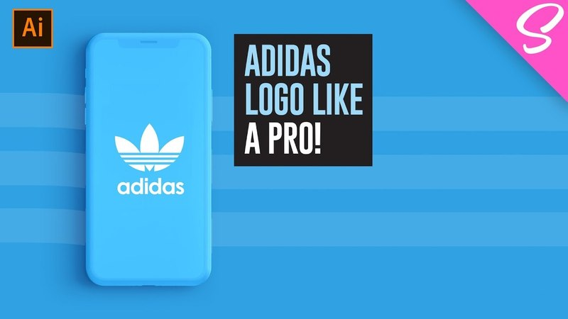 How To Design The Adidas Logo Like A PRO! - Logo Design Tutorial ((BONUS TECHNIQUE))