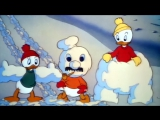 Дональд Дак и племянники - Снежная битва Дональда Дака (10.4.1942) HD1080 (Donald's Snow Fight)