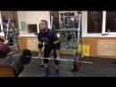 130 кг с остановкой 4 сек. (легкая тренировка становой тяги)