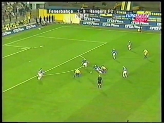 CL 2001-02. Fenerbahce 2-1 Rangers (highlights)