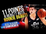 Grayson Allen Rookie Debut 2018.07.02 Utah Jazz vs SA S - 11 Pts, 8 Rebs, 7 Asts! FreeDawkins