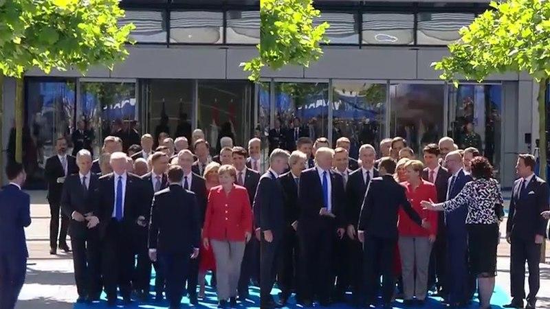 Donald Trump and Macron - HANDSHAKES