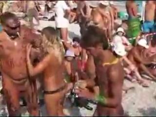 Коктебель. Нудистский пляж. Праздник Нептуна