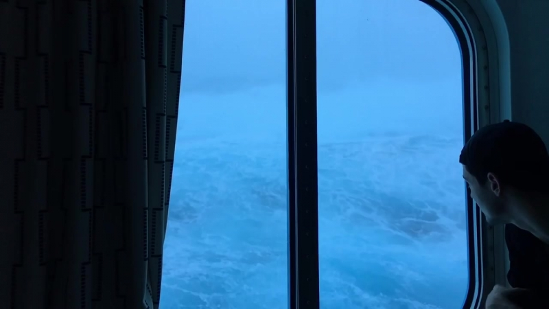 Anthem Of The Seas Vs Huge Waves And 120 MPH Winds. Viewed From My Room On The T