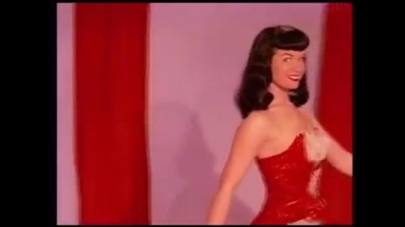 Bettie Page- Teaserama- Bettie In Red (18, boobs, spanked, порка, бдсм, госпожа, bdsm, fetish, бондаж, фетиш, фемдом, erotic)