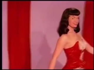 Bettie Page- Teaserama- Bettie In Red (+18, boobs, spanked, порка, бдсм, госпожа, bdsm, fetish, бондаж, фетиш, фемдом, erotic)