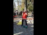 Демонстрация силы и ловкости с гирями в День Народного Единства, г. Владикавказ.