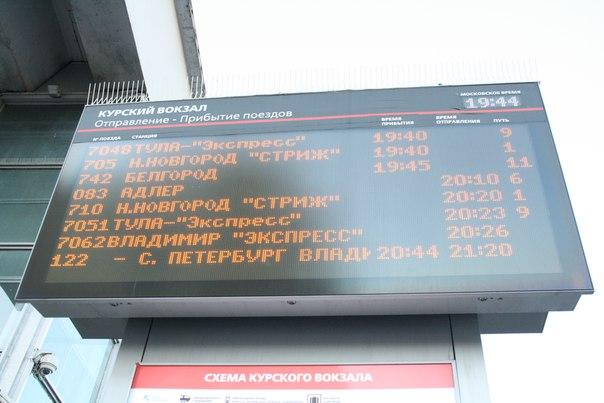 Расписание Курского вокзала