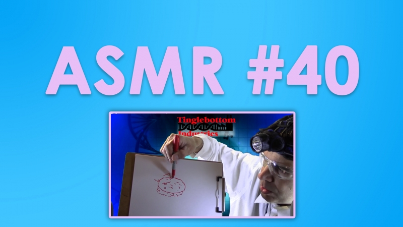 40 ASMR ( АСМР ): Dr. T - Drawn Explanations Inaudible Speaking