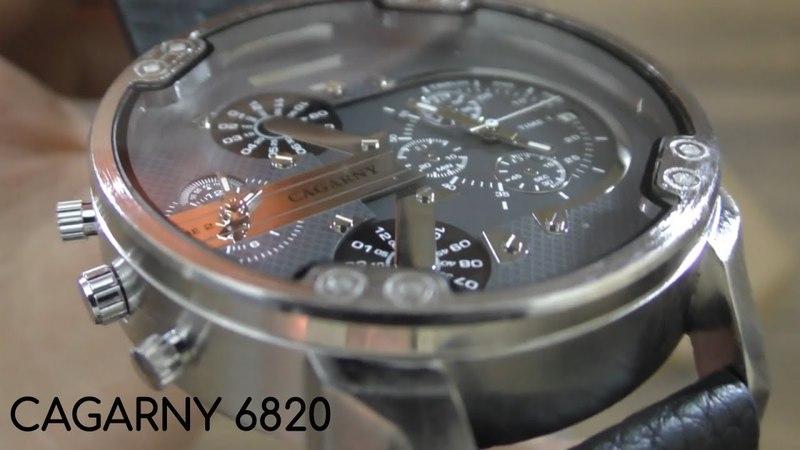 Мужские кварцевые часы CAGARNY 6820 с GearBest