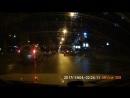 Столкновение двух автомобилей на перекрёстке Красного проспекта и улицы Романова
