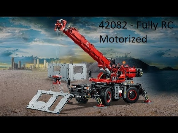 LEGO Technic 42082 All Terrain Crane fully motorized and remote controlled