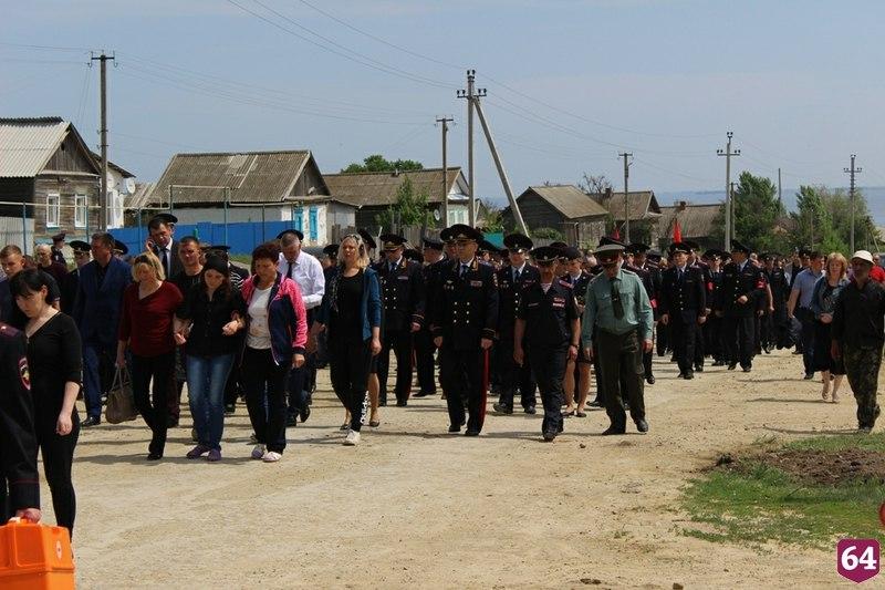 Погибшего в Чечне Владимира Горскова похоронили с воинскими почестями