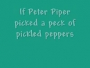 Peter Piper Tongue Twister Song A Funny Song by Bryant Oden