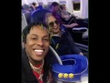 Rich The Kid x Lil Pump flying 1st class