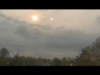 Два солнца в Одинцово 18.10.2017. Нибиру?