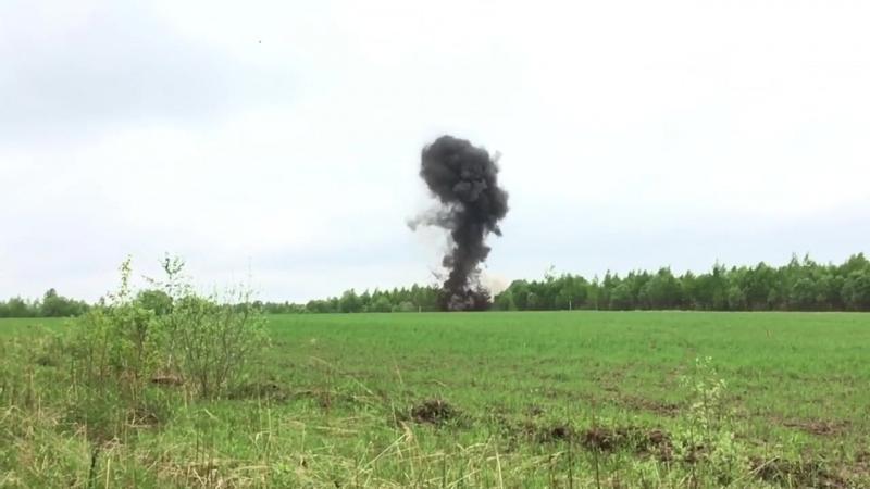 Уничтожение найденных в ходе экспедиции ВОПов специалистами-взрывотехниками.