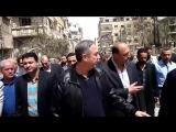 Губернатор провинции Дамаск посетил освобожденные районы Хараста, Арбин, Замалька, Айн-Терма, Кафр-Батна и Джисрин